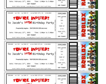 Roblox Vip Etsy - roblox ticket number