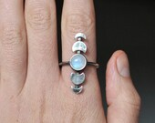 Moon Phases Ring, Moonstone Moon Phase Ring, Celestial Jewelry, Mindfulness gift, Celestial Ring, Crescent Moon ring, Moonstone Boho rings