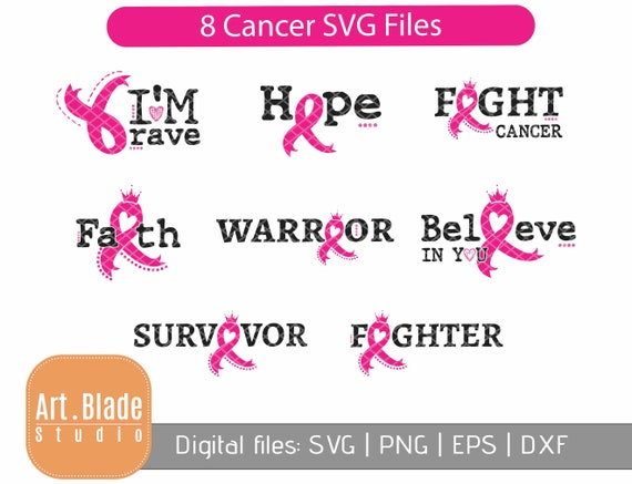 27+ Cancer Awareness Svg * Brave And Strong Cancer Ribbon Cut File DXF