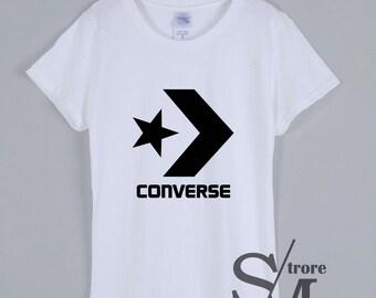 513d8ba339c4 Converse Logo T Shirt New Brand Famous Casual Converse Women Size T-Shirt -  SM03