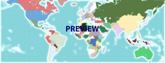 Alternate World Digital Download Map Etsy