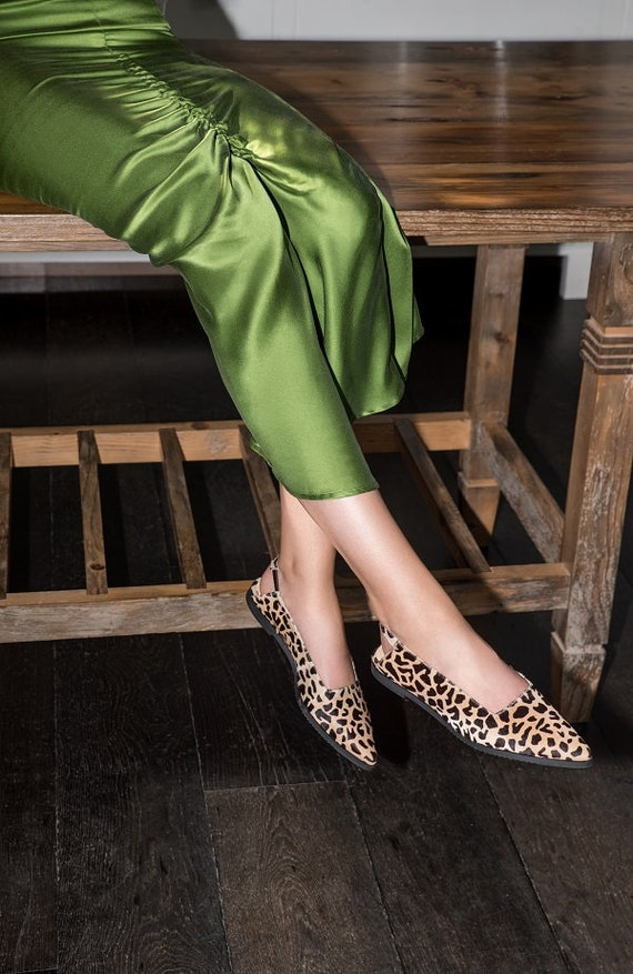 RUBY leopard Flat Pointed Ballerina