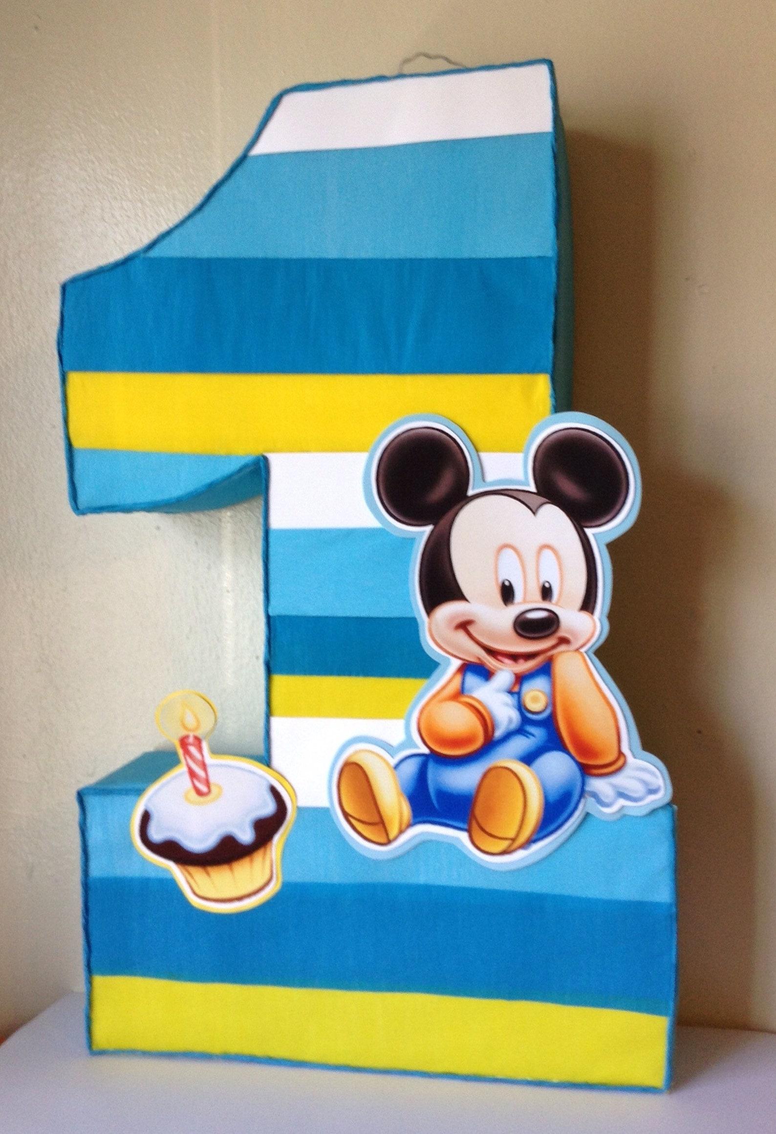 Baby Mickey Number Pinatas