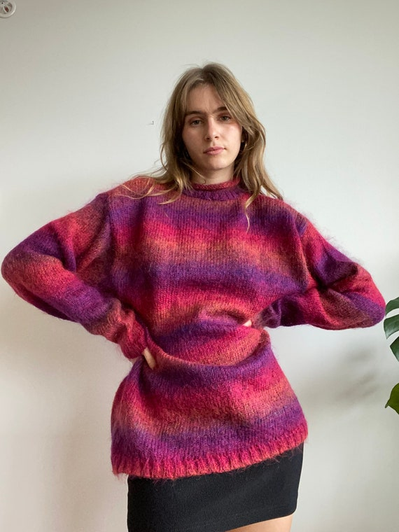 Ombre Mohair Oversized Knit / XL