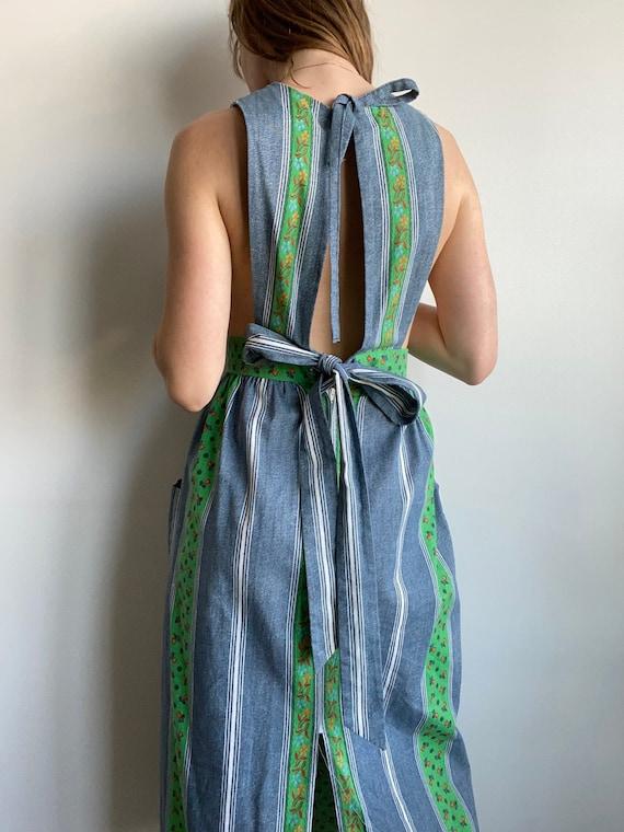 "Vintage Apron Dress with Ties / 28"" Waist"