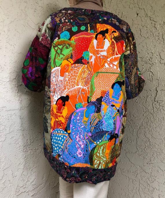 Quilted Tapestry Vintage Handmade Jacket