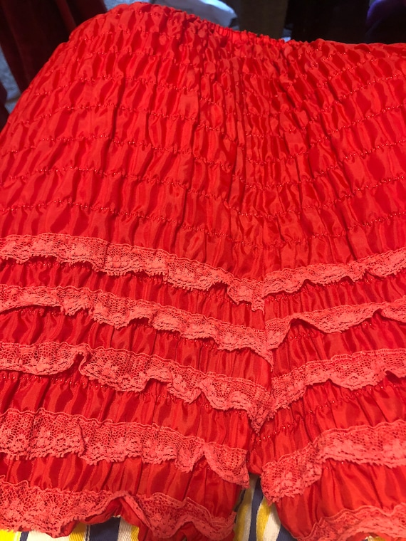 Vintage Red Lacy Bloomers - image 6