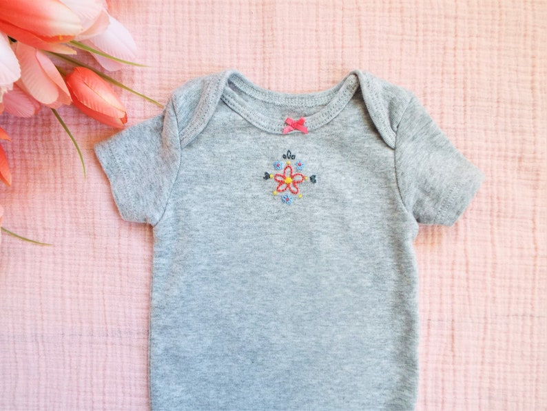 Flower Hand Embroidered Shower Gift