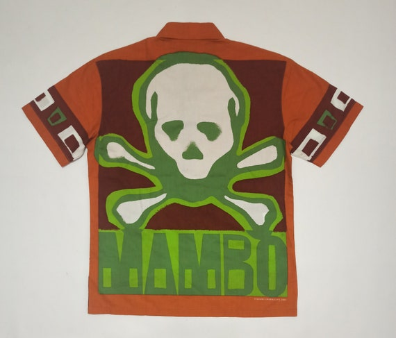 Vintage 00s Mambo Skull and Bones Shirt Medium