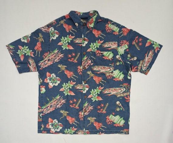 Vintage 90s Club Tropical Aloha Girl Ukulele Print