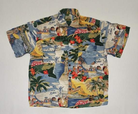 Vintage Reyn Spooner Tourist Honolulu Clipper Aloh