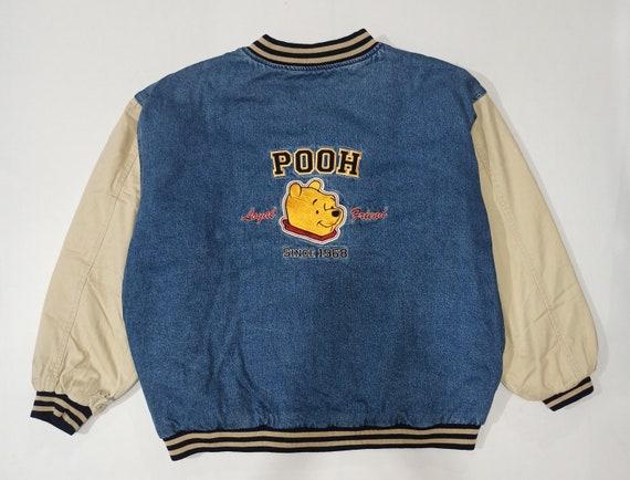 Vintage Winnie the Pooh Varsity Denim Jacket Jean