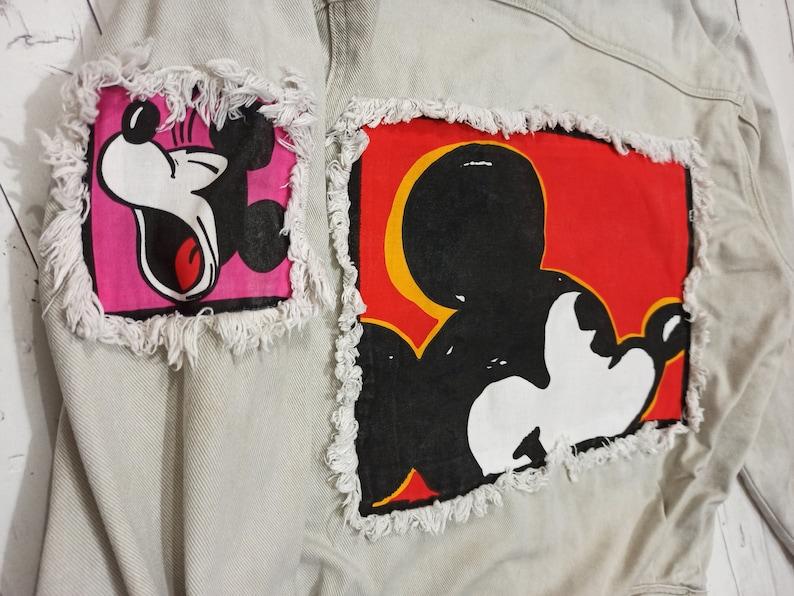 Vintage Mickey Mouse Mickey /& Co Denim Jean Jacket Size Medium