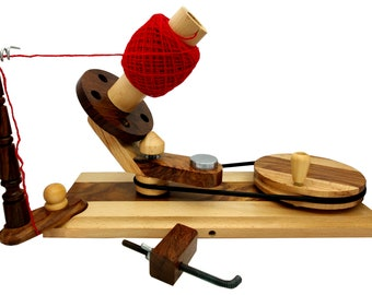 5MoonSun5's Wooden Yarn Ball Winder For Heavy Duty Large Knitting Wood Center Pull Natural Wool String Holder Winder great handmade tool