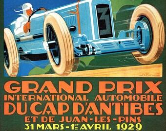 VINTAGE 1968 MONACO GRAND PRIX RACING A3 POSTER PRINT