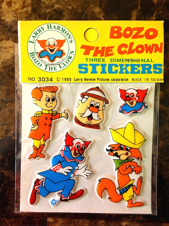 1982 NO BOZOS STICKER NEW OLD STOCK SIZE 4/""