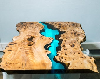 Living room coffee table and dining table. Epoxy Resin Table