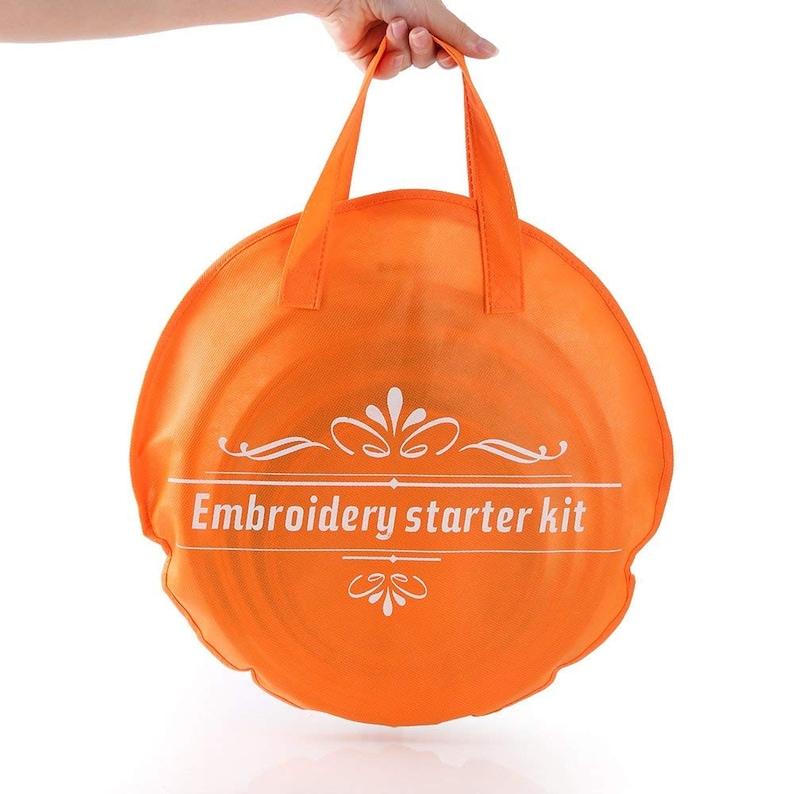 Embroidery Kit Beginners Handmade DIY Modern Crewel Starter Full Tools Set Educational Gift Kids Classic Reserve Aida Cross Stitch Hoops