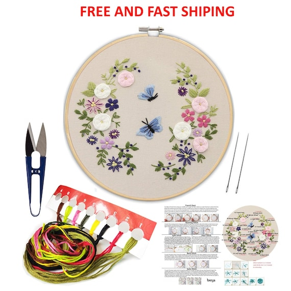 NEW DIY Embroidery Cross Stitch Kit Set for Beginner Starter Handmade Craft