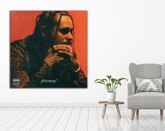 2e66b6264dc9 Post Malone Canvas Poster - Stoney Album Cover- Rap Hip Hop Poster - Music  Art Print - Size 12x12