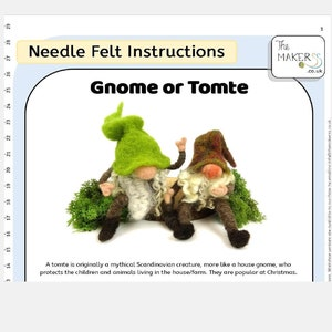 Gnome  Tomte Needle Felt Kit by The Makerss
