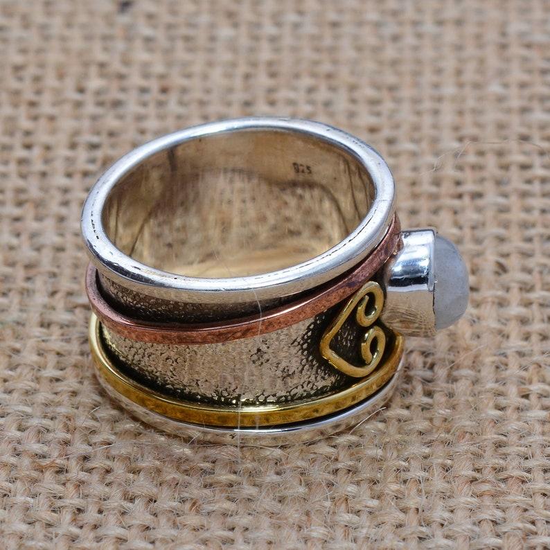 Women Ring Gypsy Ring Moonstone Ring Statement Ring Gift Ring DCS-5204 Dainty Ring Spinner Ring Designer Ring Boho Ring Thumb Ring