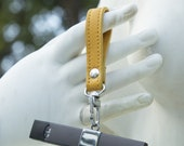 Silver Juul Keychain with Lambskin Leather Wristlet