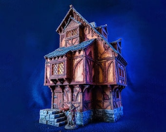 Medieval Home 28mm scale building for medieval and fantasy village. City of Tarok • Wargaming • Terrain Scenery