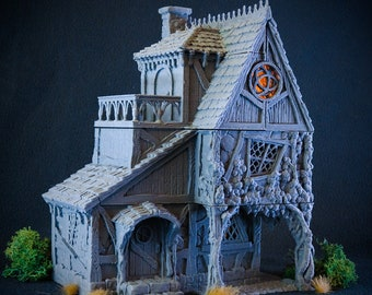 Healer's house 28mm scale building for medieval and fantasy village. City of Tarok • Wargaming • Terrain Scenery
