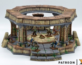 Aztec Temple Shrine • Circled Altar • Lizardmen Temple Altar