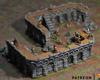 2 Sets of Modular Walls. Perfect for City of Tarok   Terrain Scenery   Pathfinder and more
