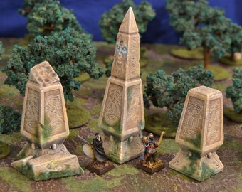 Set of 3 High Elves Waystones perfect for Age of Sigmar   Dungeons and Dragons   Pathfinder and many more