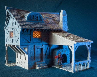 Blacksmith 28mm scale building for medieval and fantasy village. City of Tarok • Wargaming • Terrain Scenery