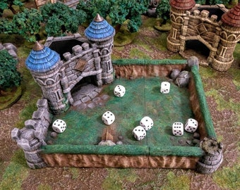 Medieval Dice Tower For All Dice Sizes. Dice Roller   Dice Castle   Dungeons and Dragons Dice Tower   RPG Dice Tower