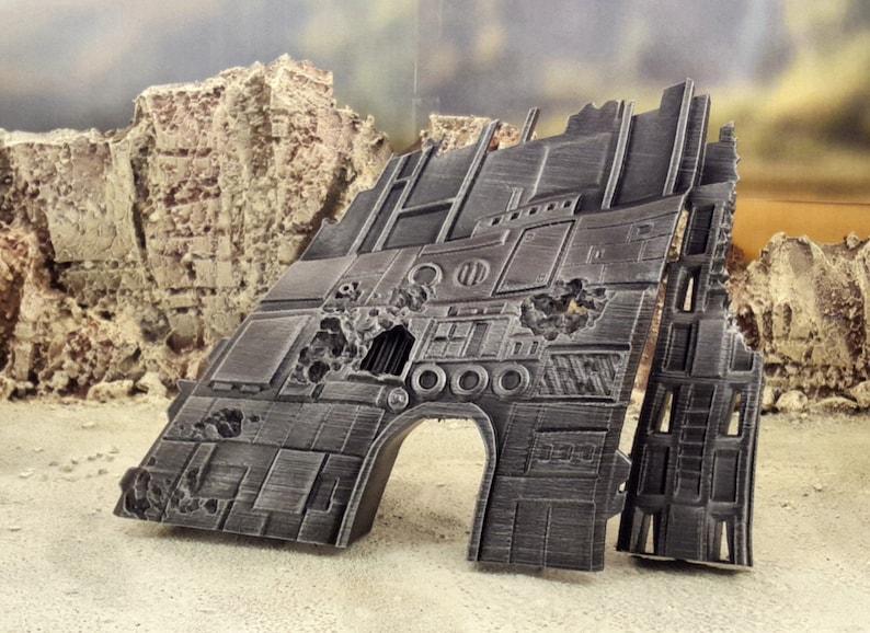 Warhammer 40k terrain Star wars legion scenery Shipwreck terrain 28mm scale Wargaming Imperial Assault