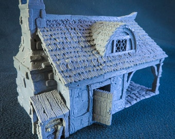 Cottage and Bakery 28mm scale building for medieval and fantasy village. City of Tarok • Wargaming • Terrain Scenery