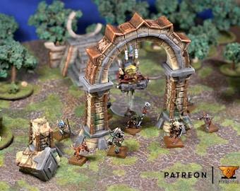 Aztec Temple Archway • Lizardmen Archway