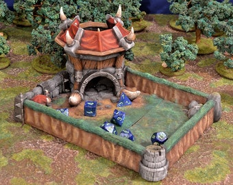 Orcish Dice Tower For All Dice Sizes. Dice Roller   Dice Castle   Dungeons and Dragons Dice Tower   RPG Dice Tower