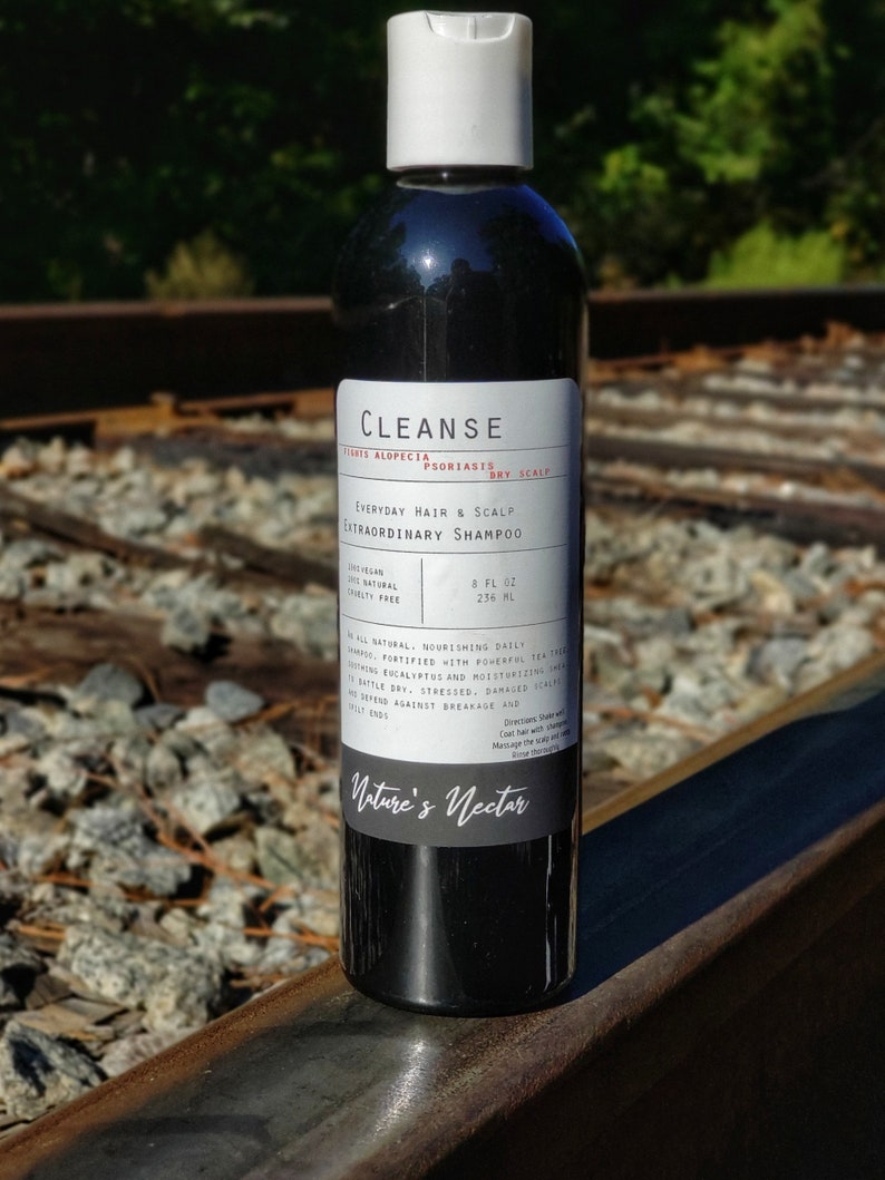 Extraordinary Cleanse! - Black Rice Hair and Scalp Shampoo 8oz Fights  Female/Male pattern Baldness,Dandruff,Hair Loss,Psoriasis!