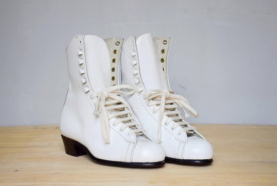 White leather boots for figure skating, Children's