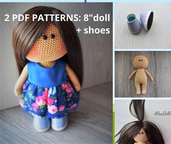 Dress Up Dolls Amigurumi Crochet Patterns: 5 big dolls with ...   478x570