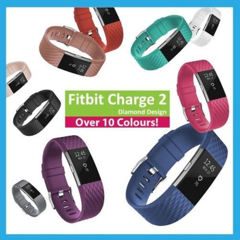 Fitbit Charge 2 Strap Band Watch Replacement - Diamond