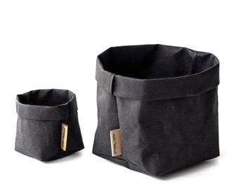 Items Similar To Storage Bins, Washable Paper Bag, Stylish ...