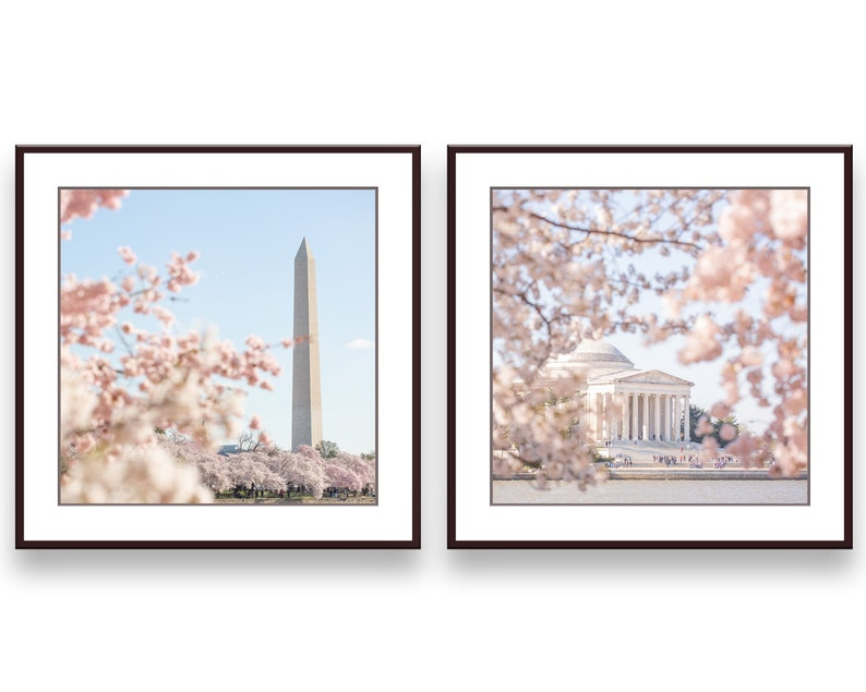 DC Blossoms Gallery Wall Collage Set of 2 Photo Prints Wall image 0