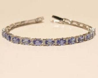 Bracelets & Bangles Fine Aaa High Quality Natural Genuine Tanzania Clear Purple Blue Tanzanite Stretch Finish Bracelet Round Big Beads 11mm 05072 Buy One Get One Free