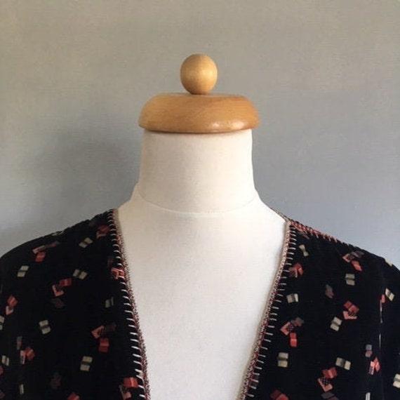 Exquisite vintage handmade, hand stitched velvet w