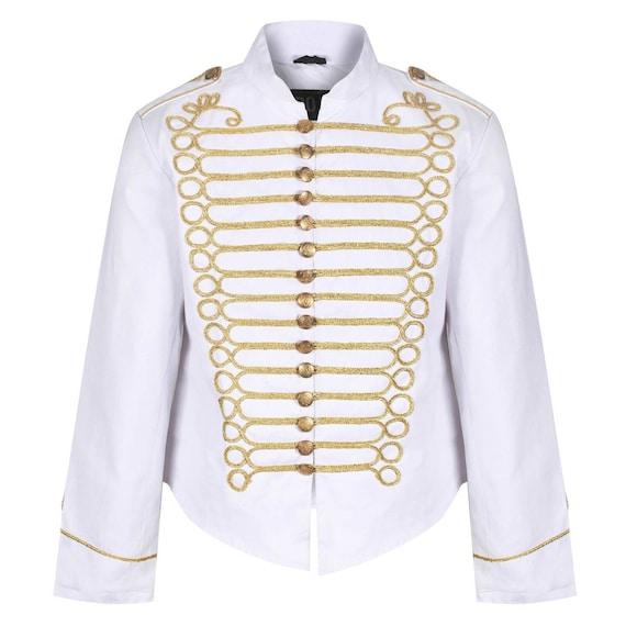 Hussar Jimi Hendrix Inspired Parade Jacket Military Drummer Jacket With Braiding