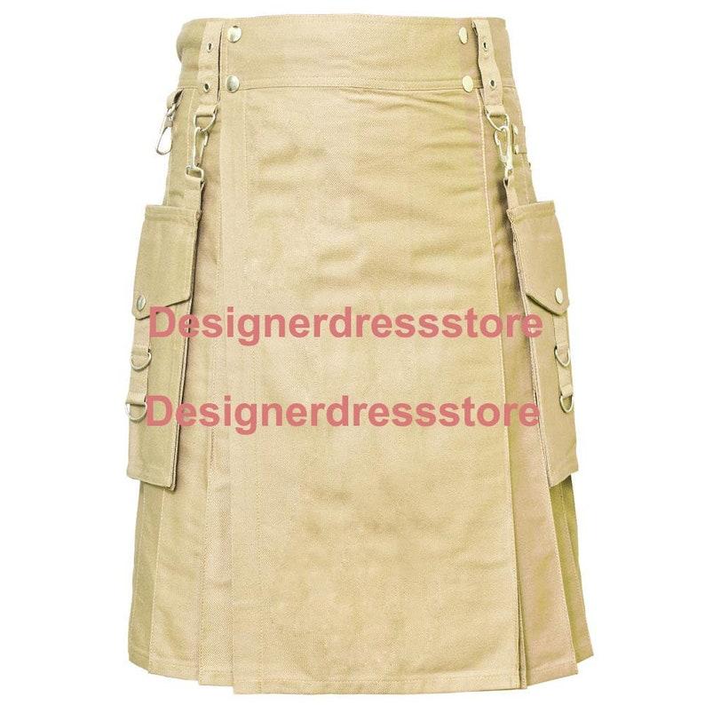mens kilt kilt for mens mens kilts online khaki kilt Detachable pocket kilt available in all colors