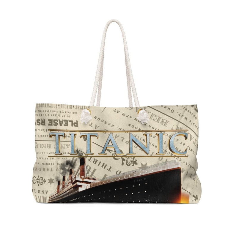 retro gift for women /& youth beach accessory bag Titanic vintage beach bag