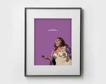 Lizzo Water Me Print Lizzo Print I Am My Inspiration Print Various Sizes Available